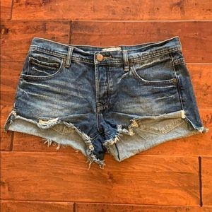 Free People Denim Cut-Off Shorts Size 27